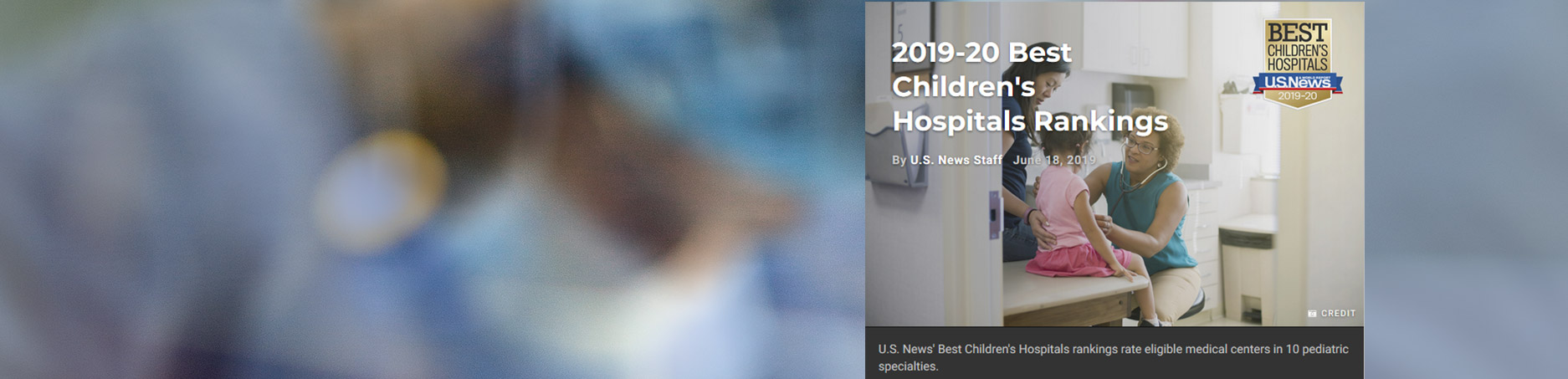 children's hospital ranking banner image