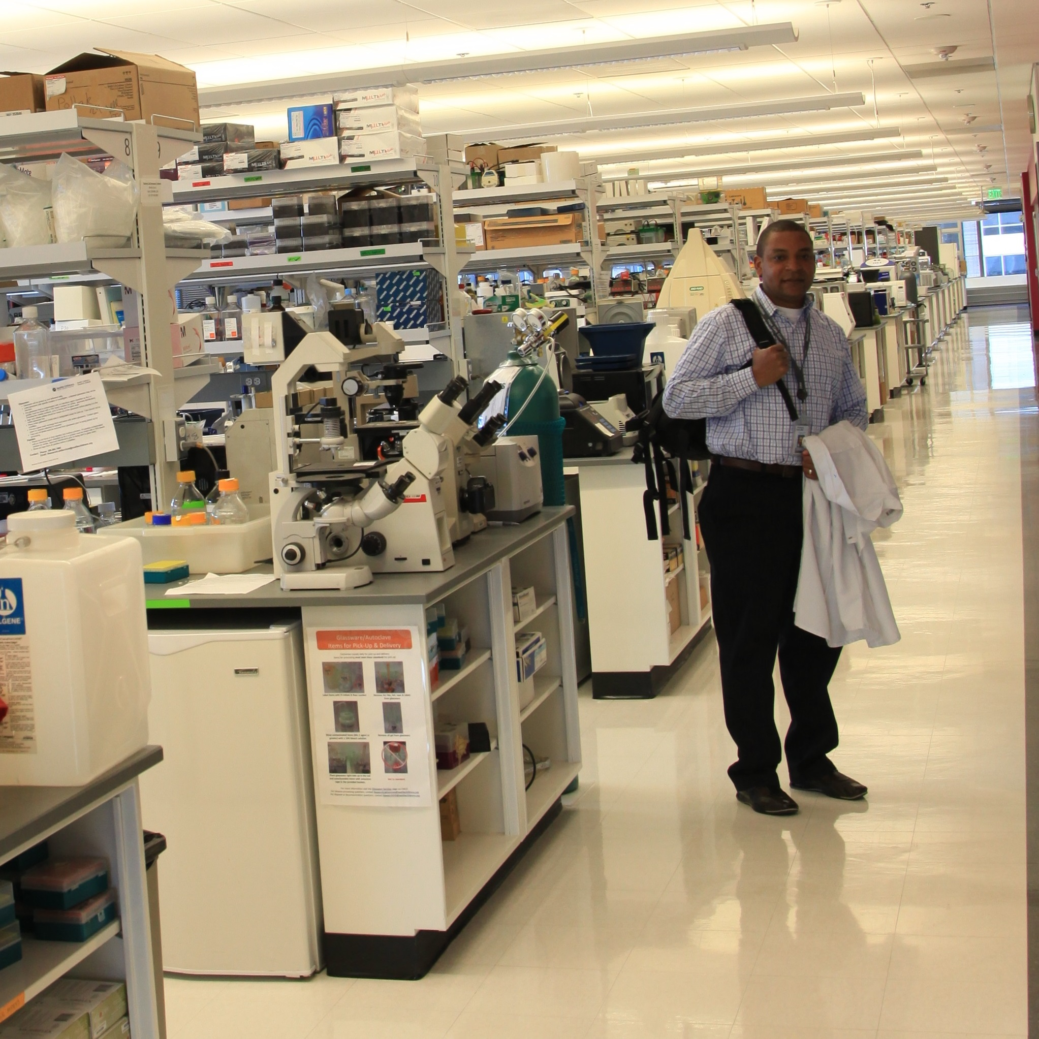 Dr. Kalume in his lab