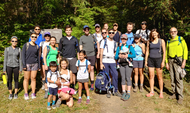 Faculty and Staff hiking on the Olympic Peninsula