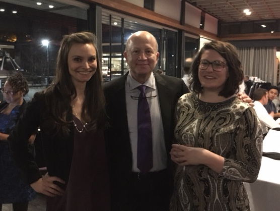 Dr. Ellenbogen with past residency administrator Aubriana Ard and current residency administrator Katie Portante