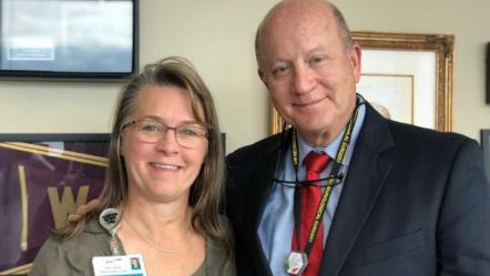 Grateful patient – and 30-year Harborview employee – says thanks, again