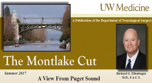 front page logo of the 2017 Summer version of the Montlake Cut