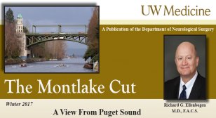 The Winter 2017 edition of the Montlake Cut Cover logo