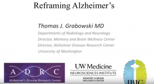 Reframing Alzheimer's title presentation slide