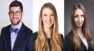 New resident profile images, from left to right: Scott Boop, Maggie McGrath, Evgeniya Tyrtova